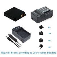 Battery for Panasonic CGA-S005A/1B CGA-S005A Lumix DMC-FX9-H DMW-BCC12 &Charger