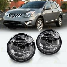 2pcs Fog Light Assembly Replacement for 2011-2014 Nissan Rogue Clear Glass Lens
