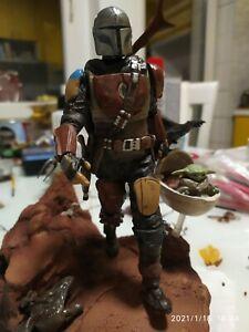 The Mandalorian diorama 3D printed and painted  (season 1) MADE ON ORDER