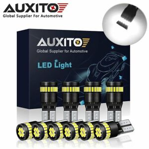 10x AUXITO T10 LED W5W 194 168 24SMD Wedge Interior Dome Door Light Bulb 12-24V