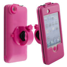 Rosa Bici bicicleta Mount Holder soporte Resistente Impermeable Funda Para Apple Iphone 4/4s