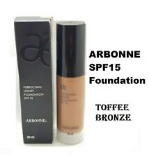 ARBONNE PERFECTING TOFFEE BRONZE LIQUID SPF15 FOUNDATION 30ML