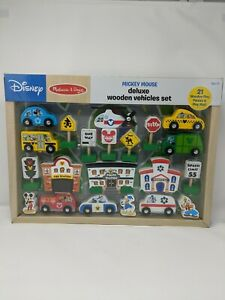 Disney Mickey Mouse Deluxe Wooden Vehicle Set by Melissa & Doug Age 3+