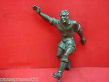 Joli ancien joueur de football ou rugby, 1930, art déco, en régule
