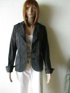 FrankWalder Damen Jacke-Blazer Gr.42 schwarz-Nadelstreifen