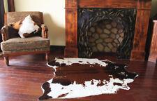4.6'X4.4' Cowhide Area Rug Large Tricolor Cowskin Faux Cow Hide Leather Carpet