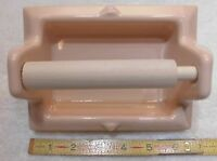 """Vintage…Peach…Ceramic...NOS...1"""" recessed toilet paper holder by Fairfacts Co."""