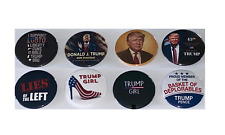 Trump 2024 Collection of 8 buttons – Trump 2024 Hero pins (2.25 inches)