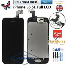 For iPhone SE & 5S LCD Touch Screen Display Digitizer Full Replacement BLACK UK