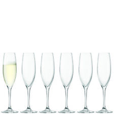 LSA International Uno Champagne Flute Clear x6