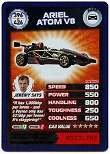 Ariel Atom V8 #396 Top Gear Turbo Challenge Rare Trade Card (C362)