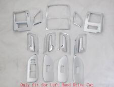 Interior Accessories Full Kit Cover Trim Chrome For Toyota Prado FJ150 2010-2016