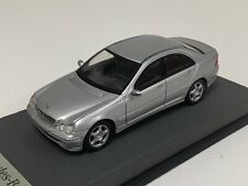 1/43 Minichamps Mercedes C Class  W203 2000 to 2007 in Silver Leather base A1050