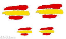 Vinilo pegatina bandera de España vinilo REFLECTANTE  4unds coches motos cascos