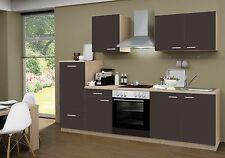 Küchenzeile Classic Lava CF 270cm, Sonoma eiche Nb., incl.E-Geräte, Ceranfeld