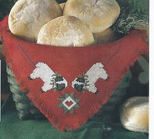 *Little Lambs Bread Cloth To Stitch- Pattern Only*Cross Stitch Pattern*