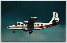 Princeton Airways GAF Nomad N60PA Twin Engine Airplane Chrome Postcard Unused