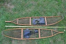 "Vtg 1943 WWII U.S. ARMY Military SNOWCRAFT INC Norway ME SNOW SHOES 10""x56"""