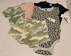 Lot of 5 NWT Old Navy Baby Clothes 6-12M camo pink 1pc short Girls Snap