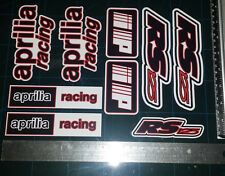 Aprilia RS125 DECALS STICKERS 3 COLOUR BLACK RED WHITE RS 125 Racing IP 9 piece