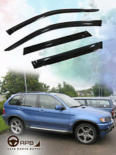 For BMW X5 E53 00-06 Deflector Window Visors Guard Vent Weather Shield