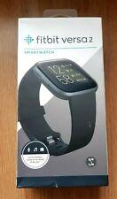 Fitbit Versa 2 Black Aluminum Fitness Smartwatch