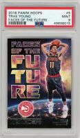 2018 Panini Hoops 'Faces Of The Future' #5 Trae Young Rookie PSA MINT 9