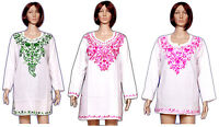 10 Piece Wholesale Lot Cotton Embroidered Gypsy Casual Women's Kurti Tunic Top