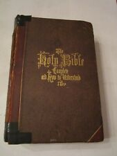 1867 TTHE COMPLETE ANALYSIS OF THE HOLY BIBLE - LEATHER BOUND & GILDED - HEAVY