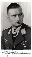 Luftwaffe Ace/Bomber Battle of Britain, 12 ships sunk Hajo Hermann 3 KC's SIGNED