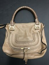 Authentic Chloe Marcie taupe Leather handbag