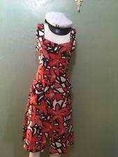 Bilik Dress Hawaiian Print Turkish Designer European XL Extra Large Red Black