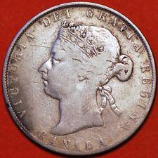 Canada. 50 Cents 1870. Victoria Queen. KM#6 Silver Coin