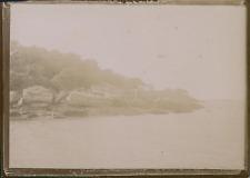 France, Vue des rochers sur la côte, ca.1900, Vintage citrate print Vintage citr