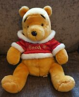 "Disney Winnie The Pooh Soft Toy Plush Christmas Sweater Xmas 15"" Walt Disney"