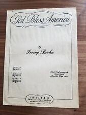 Irving Berlin's God Bless America, sheet music