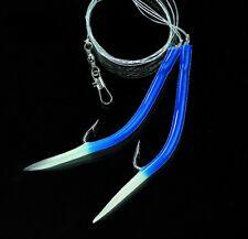DEGA Gummi-Makk Vorfach Hg.12/0  blue/luminous  100cm  0,90mm