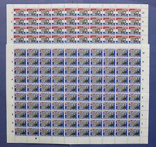 NVPH 1207-1208 COMPLETE VELLEN van 100 Europa CEPT 1980 (Plaatfouten)