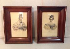 HENRI GREVEDON IBFCO COLORED PRINTS PAIR IN SHADOW BOX FRAMES