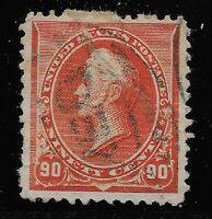 US Scott #229, Single 1890 Perry 90c FVF Used