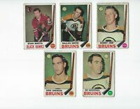 1969-70 Hockey Star Lot (10) BOBBY ORR  MIKITA ESPOSITO Lower Grade