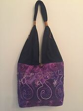 Purple Bag Hand Made Cloth Hand Bag Made In Thailand