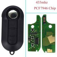 Chiave Completa Chip e elettronica FIAT 500 X L PUNTO FIORINO DOBLO QUBO 433Mhz