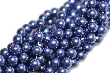 70 Blueberry Glass Pearl Round Beads 6MM LIMITED
