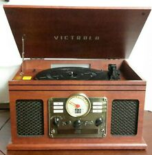 Victrola Nostalgic 6-in-1 Bluetooth Turntable Stereo Audio System CD Player