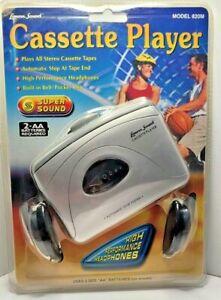 Lenoxx Sound Stereo Cassette Player w/ Headphones Model 820M BRAND NEW