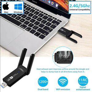 1200Mbps WIFI USB adapter 2.4/G 5GHz Wireless USB 3.0 PC Network Card Dongle
