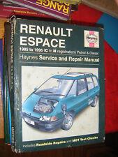 renault espace haynes  workshop manual
