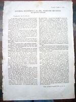 1848 ECCEZIONALE MANIFESTO RISORGIMENTO APPELLO ISOLANI DELLE ISOLE TREMITI