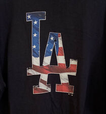 FANATICS LOS ANGELES LA DODGERS MLB BASEBALL USA AMERICAN FLAG T SHIRT 3XL XXXL